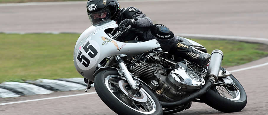 Ben on the Egli Vincent 2010
